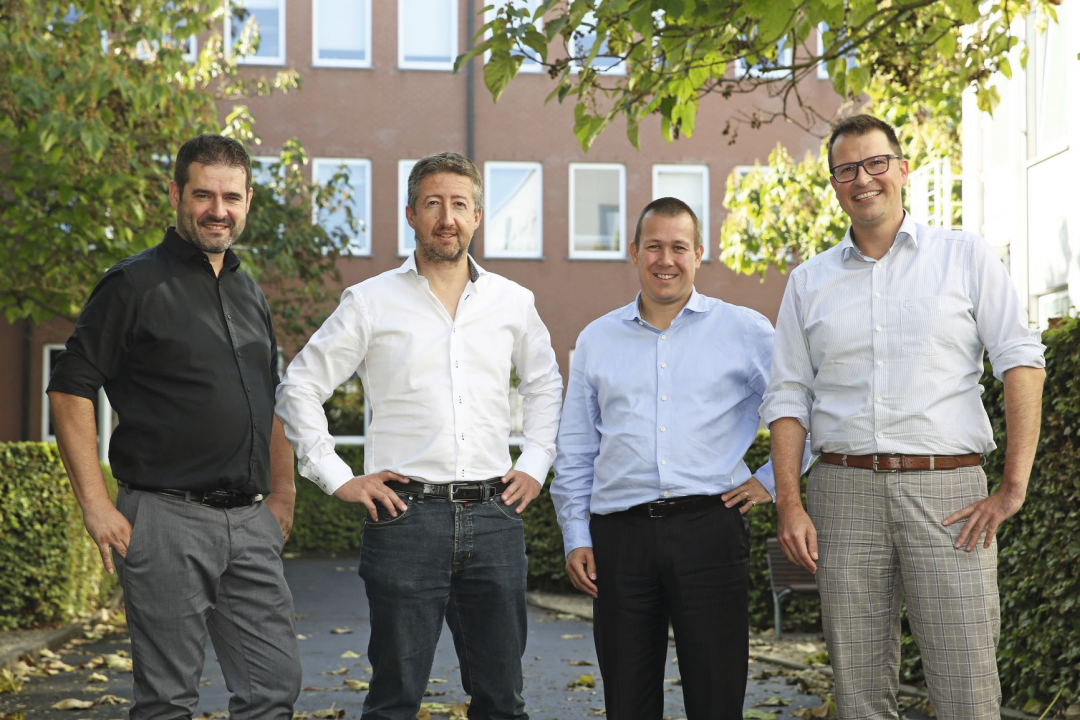 Roularta Digital hub met Mark Daemen ( Data en New Business), Frederik Wybo (E-Commerce), William De Nolf (Development en Customer Marketing) en Stefan Seghers, CDO